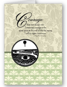 Courage Does Not Always Roar Card from Zazzle.com_1249626670909
